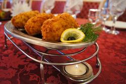 Рулет рыбный (горбуша, сыр, панировка)